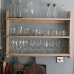 A Small Shelf for Glasses In Maple