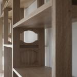 A Large Wall Unit In Oak